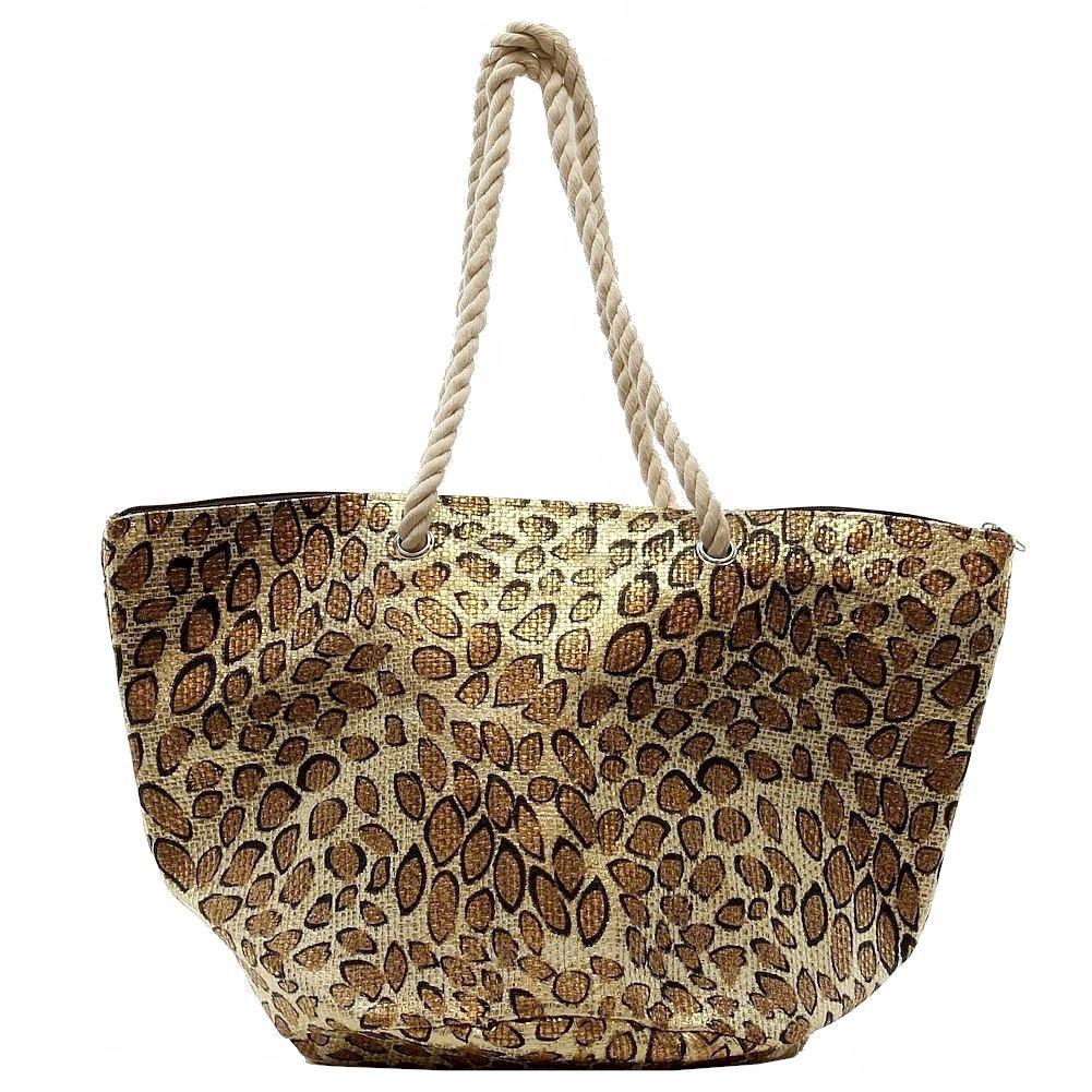 Cappelli Straworld Women S Toyo Animal Print Carryall Handbag