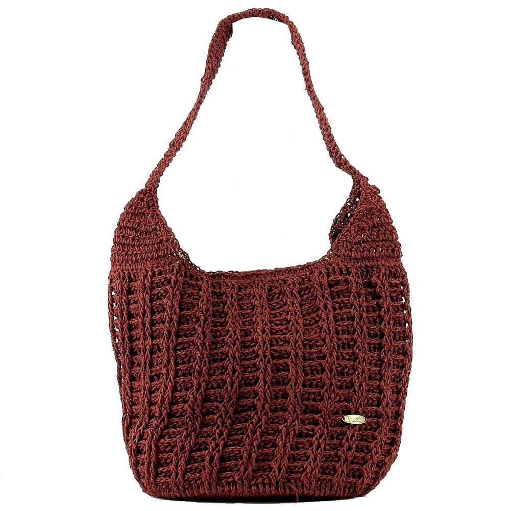 Cappelli Straworld Women S Hand Crochet Toyo Hobo Handbag