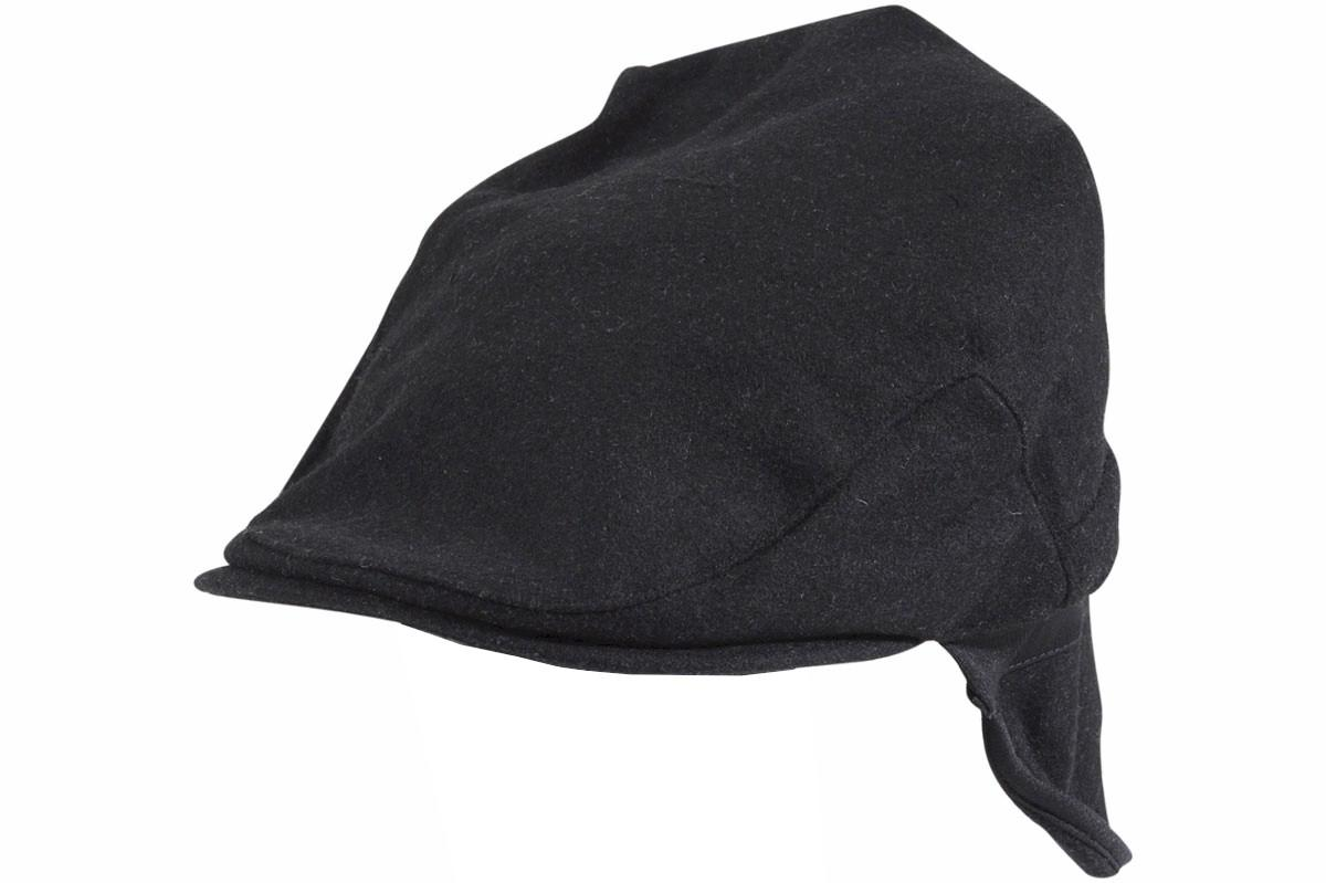 Image of Dorfman Pacific Men's Earflap Fold Ivy Cap Hat - Black - Small/Medium