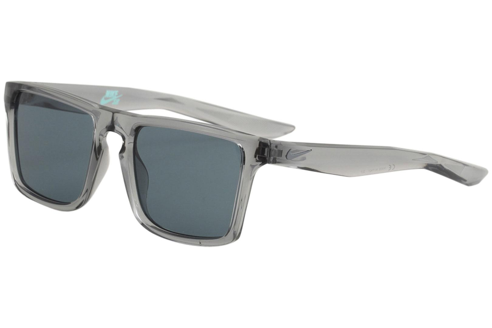 Image of Nike SB Men's Verge EV1059 EV/1059 Sport Square Sunglasses - Wolf Grey Cool Grey/Blue   004 - Lens 52 Bridge 19 Temple 145mm