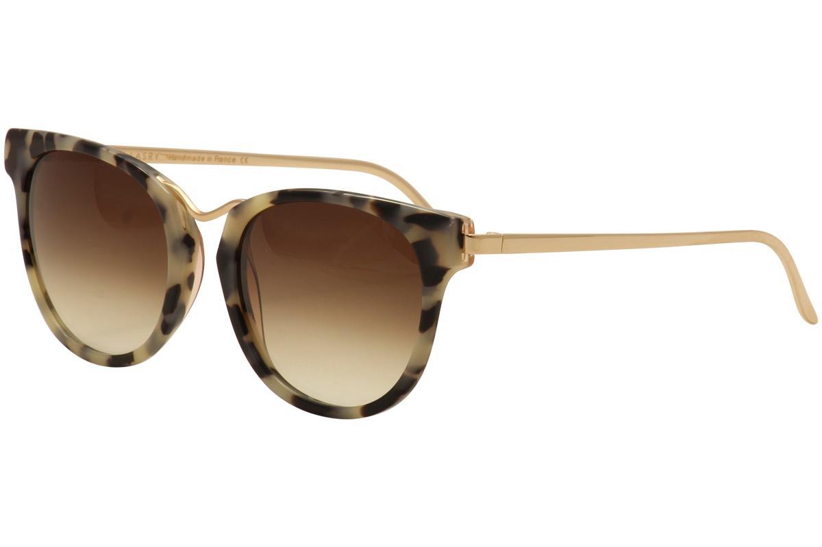 Image of Thierry Lasry Women's Gummy Tortoise Fashion Sunglasses - Black Ivory Tortoise/Brown Gradient   018 - Lens 56 Bridge 19 Temple 140mm