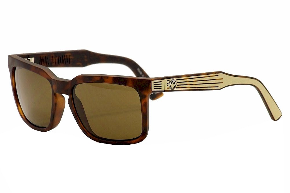 Image of Dragon Mr. Blonde Fashion Sunglasses - Brown - Large Fit