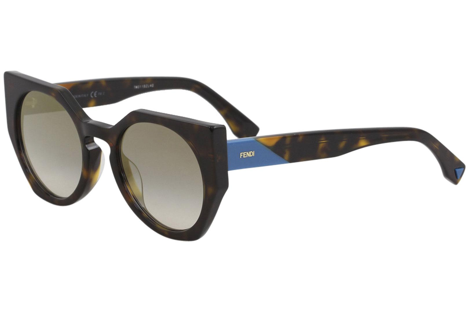 8253a50729 Fendi Women's FF0151S FF/0151/S Fashion Round Sunglasses