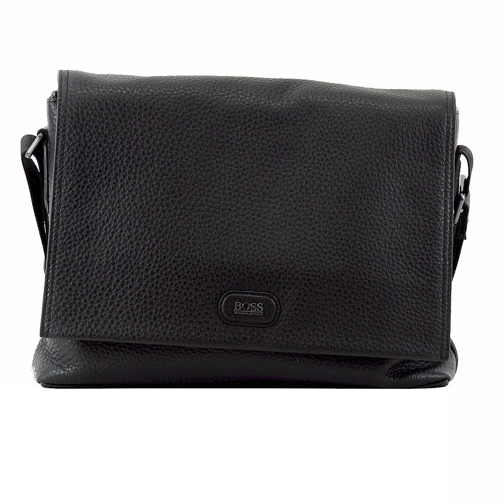 Hugo Boss Men s Mackus Embossed Leather Business Messenger Bag