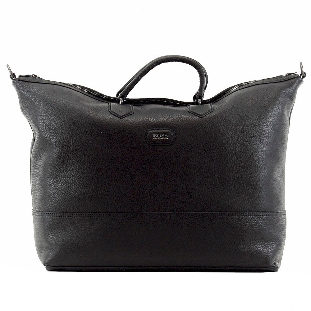 Hugo Boss Men s Manfredy Leather Weekender Duffle Bag