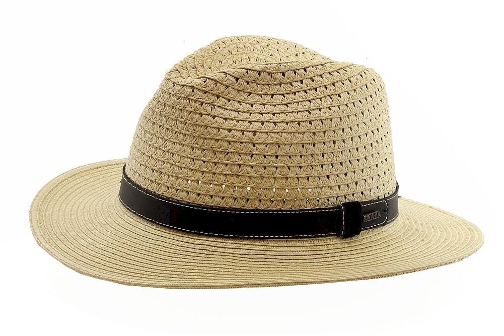 Image of Scala Classico Men's Fashion Toyo Braid Safari Hat - Brown - X Large
