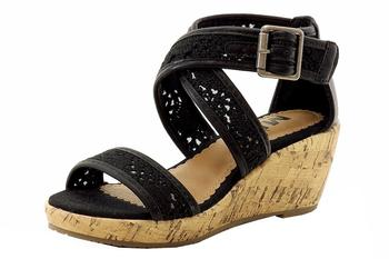 Mia Girl's Rio Crochet Strappy Wedge Sandals Shoes  UPC: