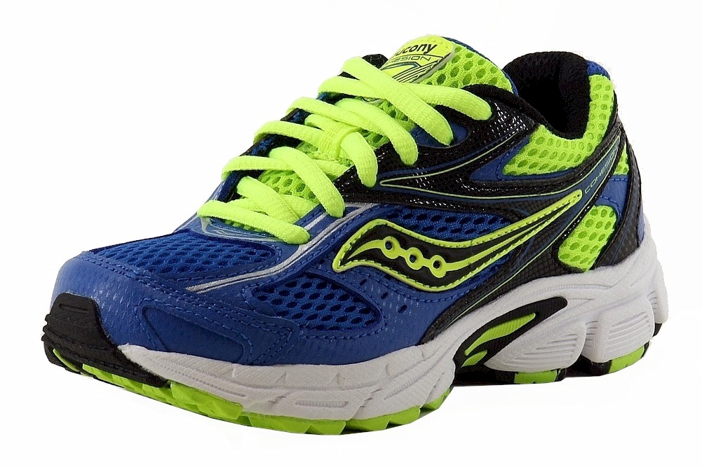 Image of Saucony Boy's Cohesion 8 LTT Lace Up Fashion Sneakers Shoes - Blue - 13   Little Kid