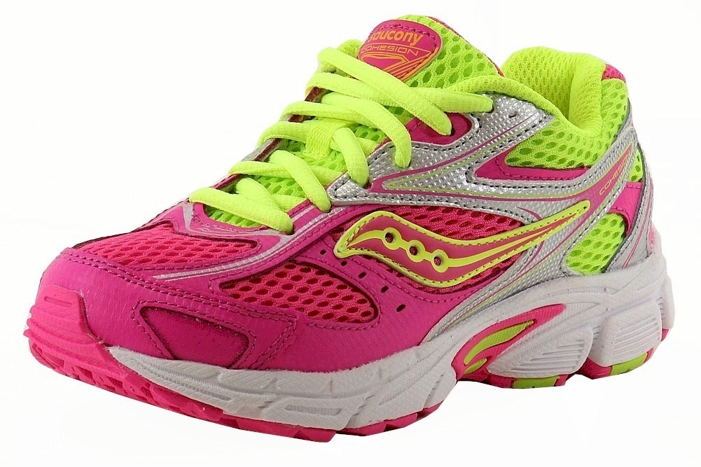 Image of Saucony Girl's Cohesion 8 LTT Lace Up Fashion Sneakers Shoes - Pink - 1   Little Kid