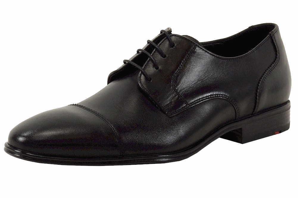 Image of Lloyd Men's Business Series Hakon Leather Fashion Oxfords Shoes - Black - 10