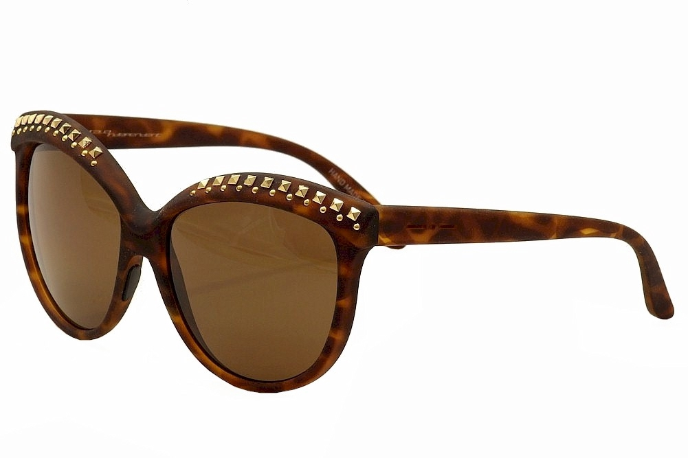 Image of Italia Independent Women's I Lux 0092R Fashion Cat Eye Sunglasses - Brown - Lens 58 Bridge 20 Temple 140mm