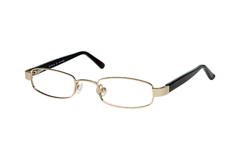 Image of Bocci Boy's Eyeglasses 341 Full Rim Optical Frame - Gold   01 - Lens 41 Bridge 19 Temple 130mm