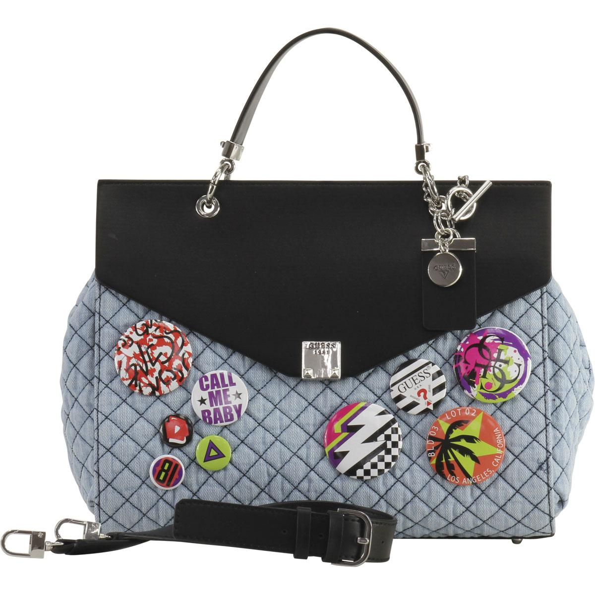 Denim Days Home Interior Guess Women S Rochelle Quilted Top Handle Flap Handbag