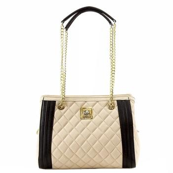 Love Moschino Women's Medium Quilted Nappa Leather Satchel Handbag