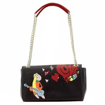 Love Moschino Women's Hippie Girl Love Flap Over Satchel Handbag
