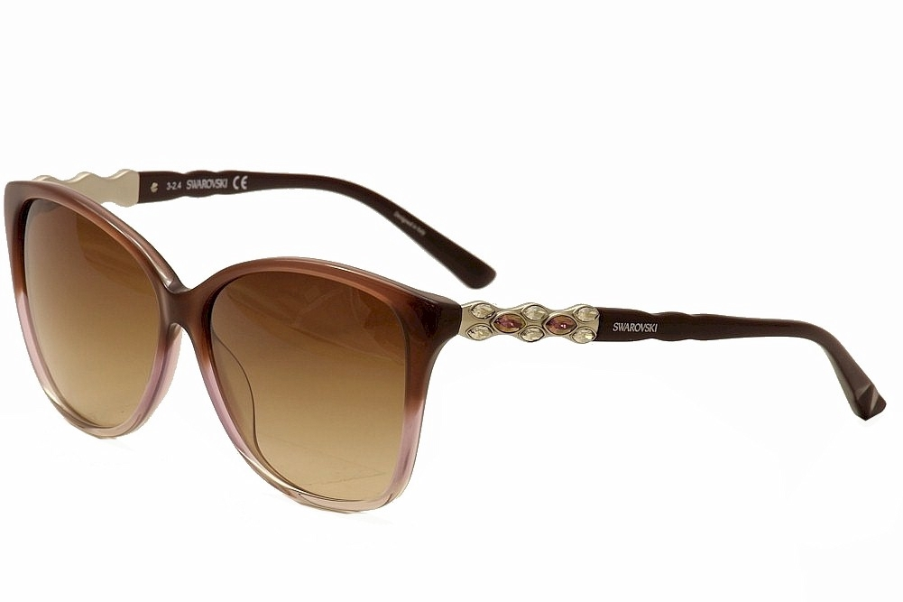 Image of Daniel Swarovski Women's Elizabeth SW85 SW/85 Fashion Sunglasses - Brown Multi/Brown Grad.   47Z - Lens 60 Bridge 13 Temple 140mm
