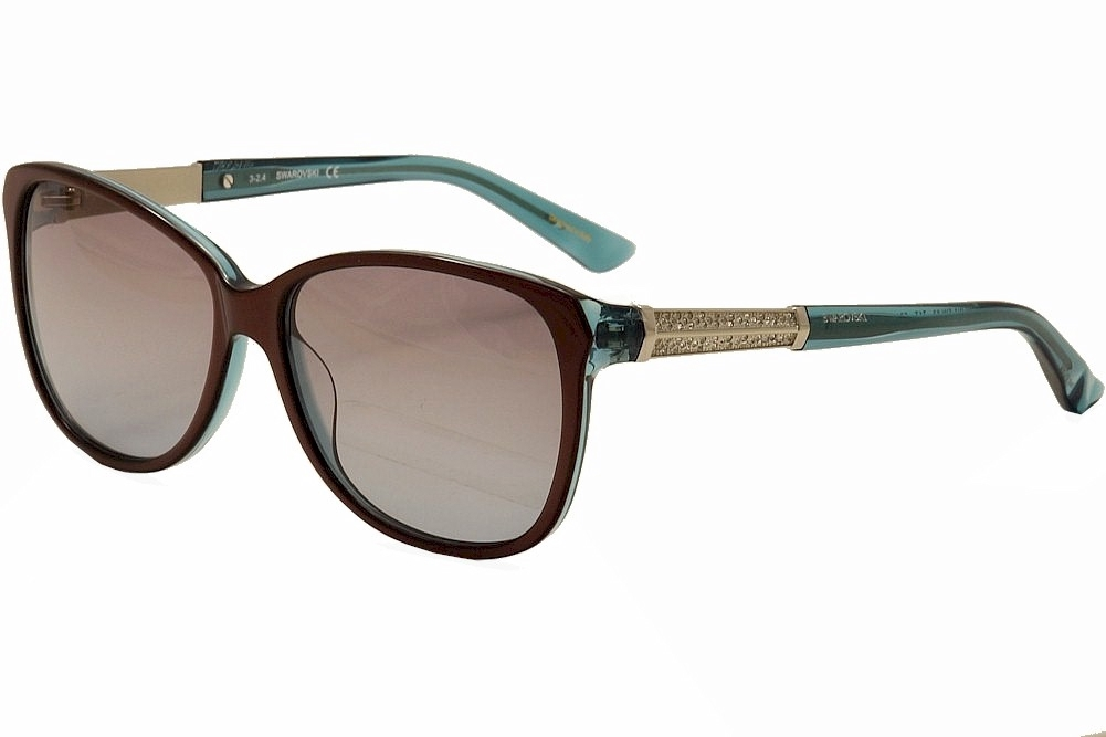 Image of Swarovski Women's Evelina SW83 SW/83 Fashion Sunglasses - Brown - Lens 58 Bridge 15 Temple 135mm