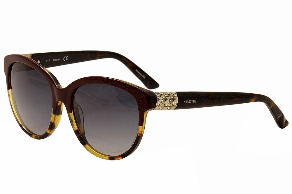 Image of Daniel Swarovski Women's Elsa SK89 SW/89 Cateye Sunglasses - Brown - Lens 57 Bridge 17 Temple 135mm