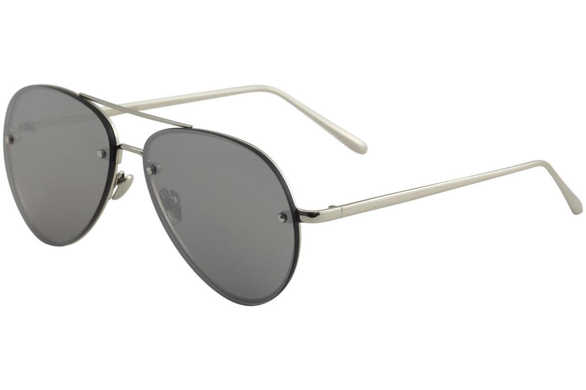 Image of Yaaas! 3027 Pilot Sunglasses - Silver/Silver Flash   D - Lens 65 Bridge 16 Temple 140mm