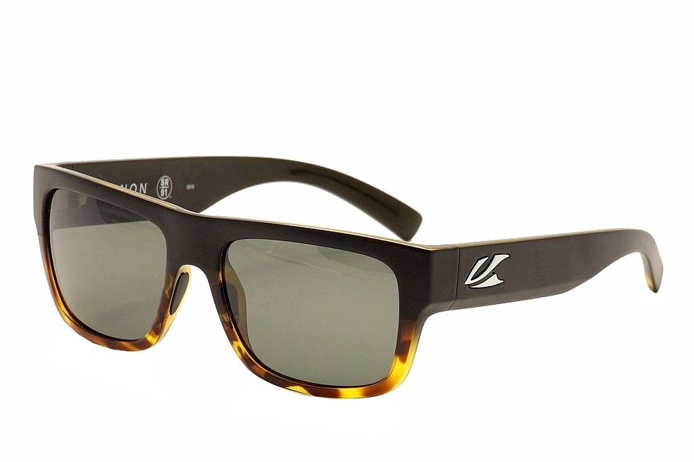 Image of Kaenon Polarized Montecito Fashion Sunglasses - Black Tortoise/Grey G12 Polar - Lens 55 Bridge 19 Temple 138mm