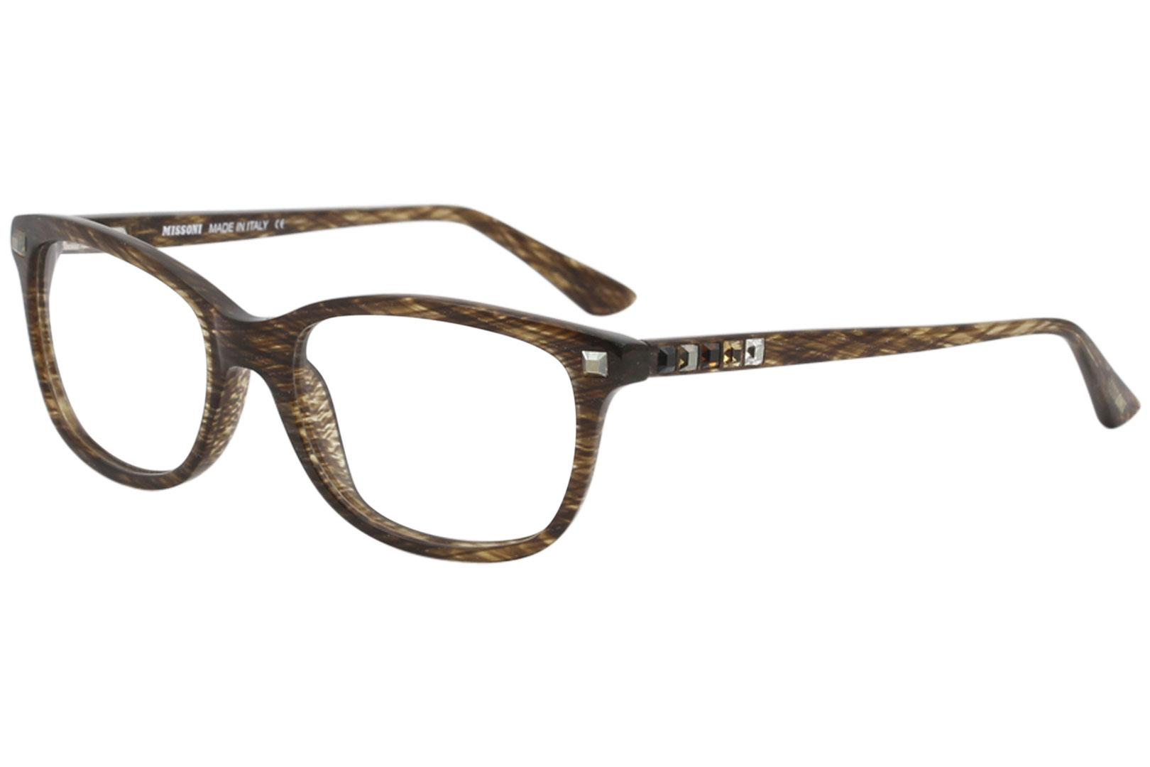 Image of Missoni Women's Eyeglasses MI283V MI/283/V Full Rim Optical Frame - Tortoise w/Crystal Accents   03 - Lens 52 Bridge 17 Temple 135mm