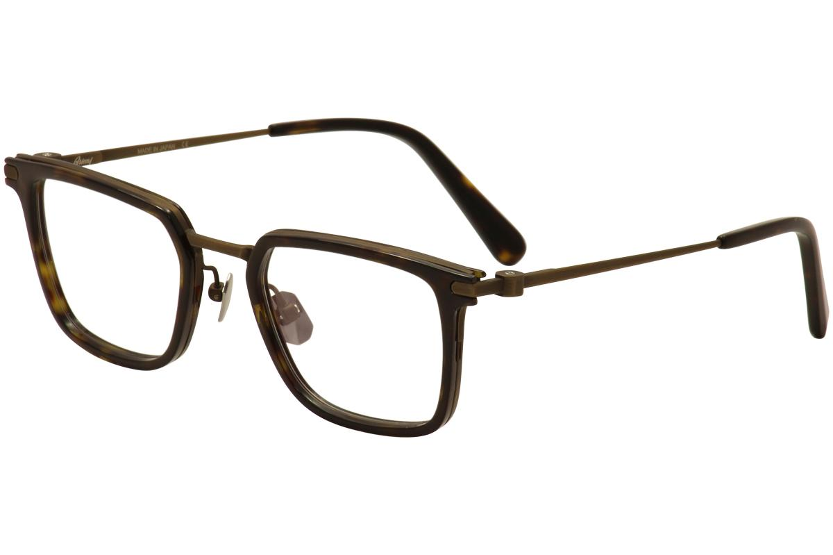 Image of Brioni Men's Eyeglasses BR 0010O 0010/O Full Rim Optical Frame - Brown - Lens 51 Bridge 22 Temple 145mm