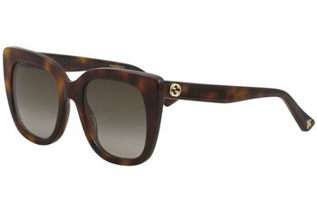 84b9d2267eb Gucci Women s GG0163S GG 0163 S Fashion Square Sunglasses