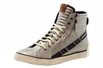 Diesel Men's D-String High-Top Leather Sneakers Shoes  UPC: