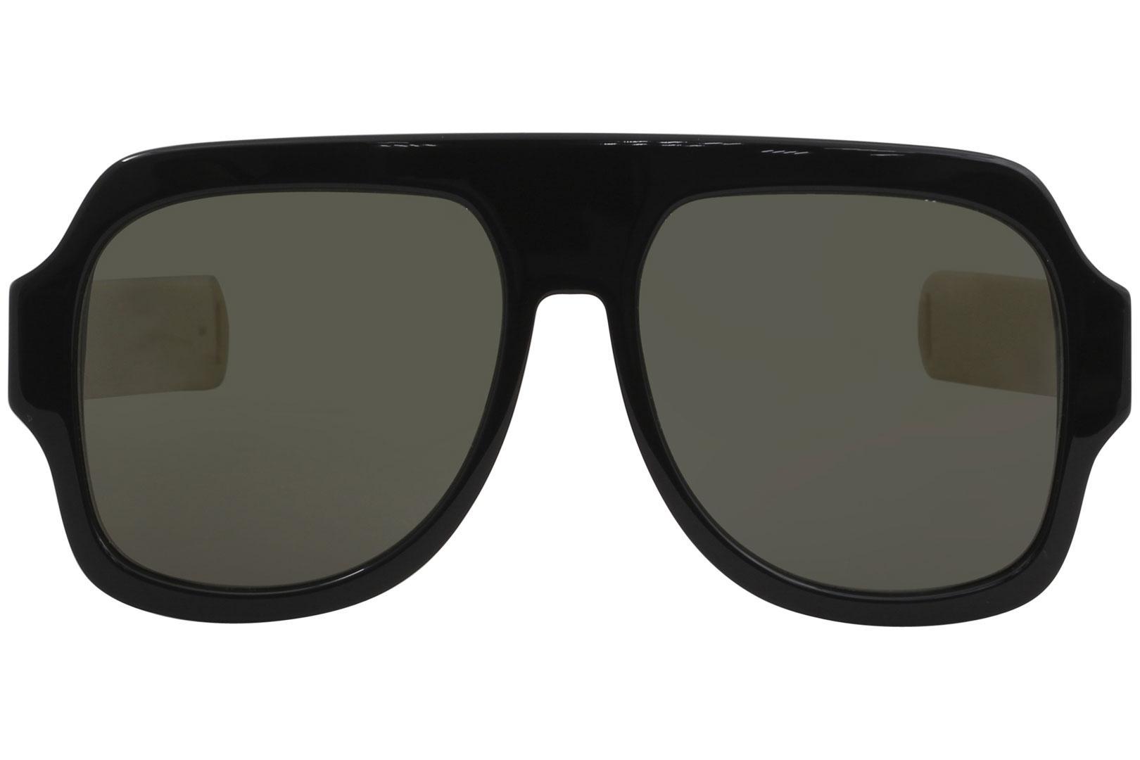 6d5221d228 Gucci Men s GG0255S GG 0255 S Fashion Pilot Sunglasses