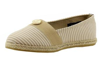 Nautica Girl's Azeda Stripe Canvas Fashion Slip On Shoes  UPC: