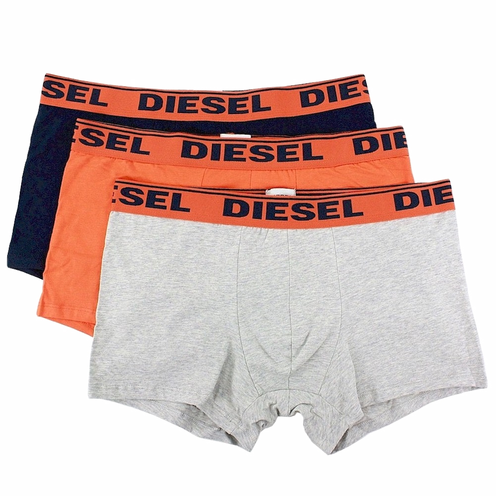 Image of Diesel Fresh & Bright Men's 3 Pc Shawn Boxers Trunks Underwear - Blue - Large