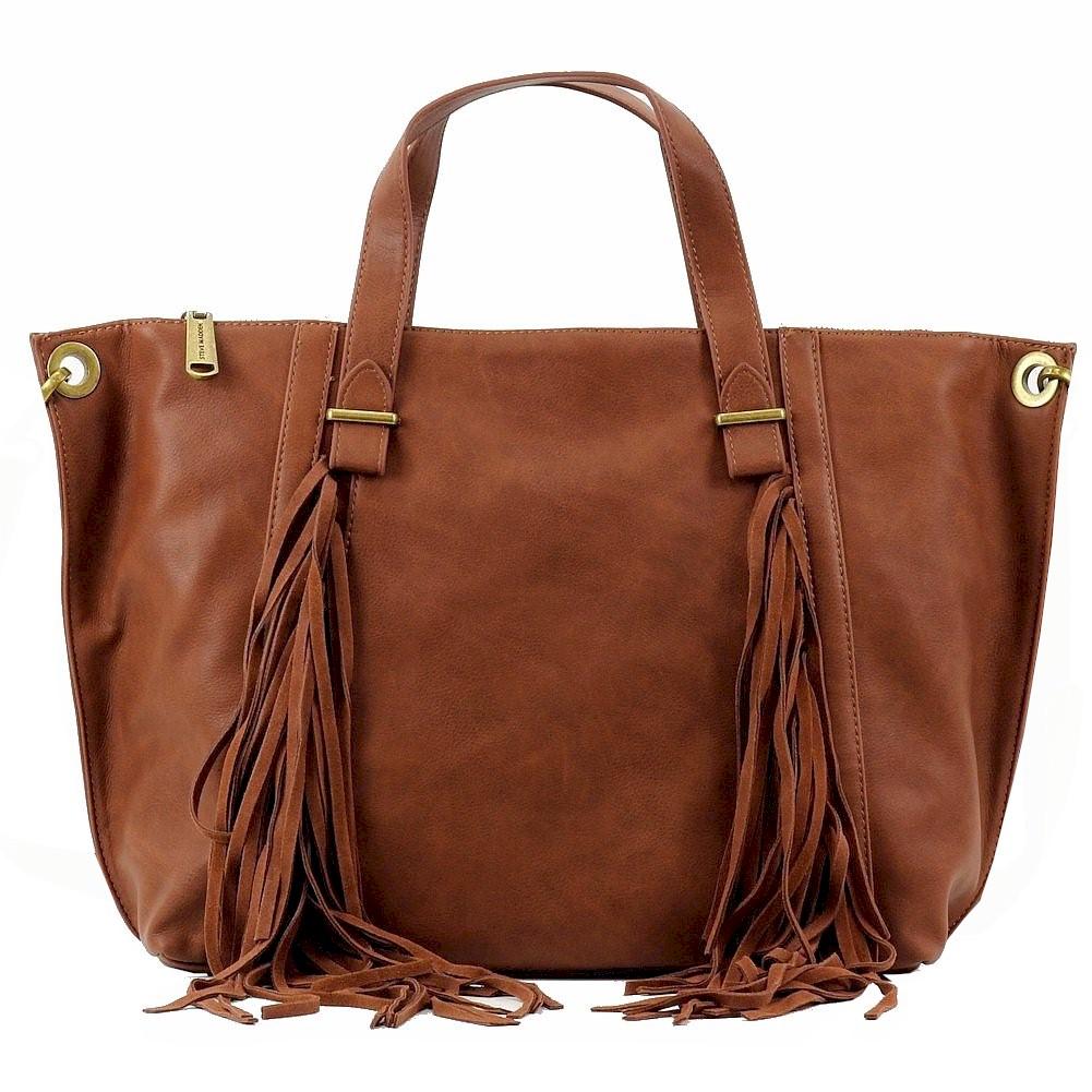 Steve Madden Women s BLucyy Fringe Carryall Tote Handbag BLucyy