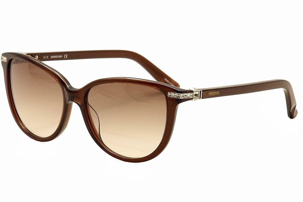 Image of Daniel Swarovski Women's Edith SW77 SW/77 Fashion Sunglasses - Brown - Lens 56 Bridge 15 Temple 135mm