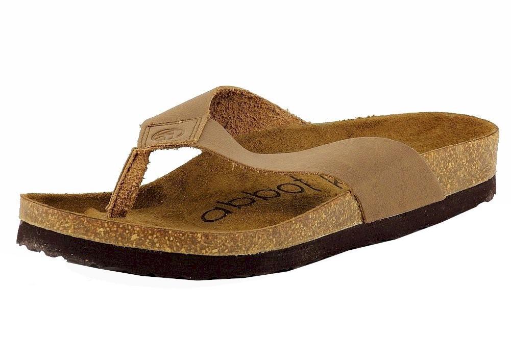 Image of Abbot K. Men's Rio Fashion Flip Flops Sandals Shoes - Brown - 10