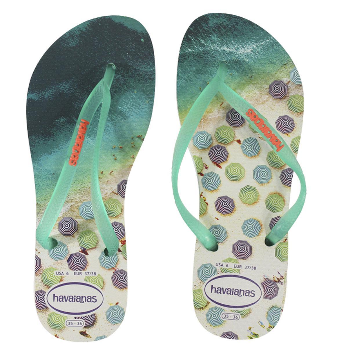 199b8b05f3b754 Havainas Women s Slim Paisage Flip Flops Sandals Shoes