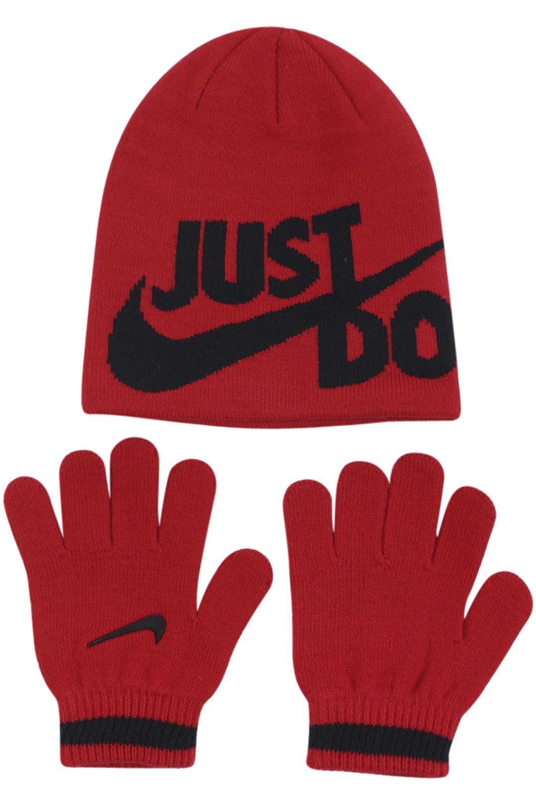 Nike Boy's Just Do It 2-Piece Beanie Hat & Gloves Set
