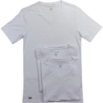 Lacoste Men's 3-Pc Essentials Cotton V-Neck Short Sleeve T-Shirt