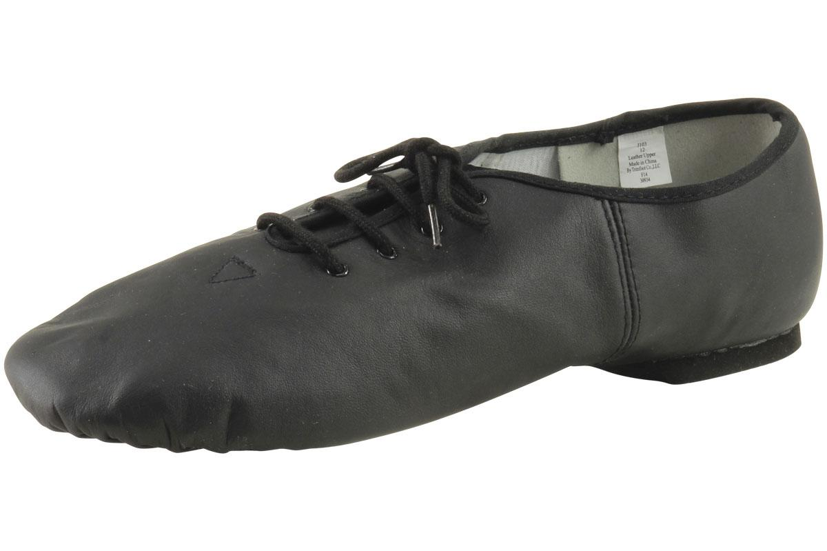 Image of Dance Class Women's Lace Up Jazz Dancing Shoes - Black - 12 B(M) US