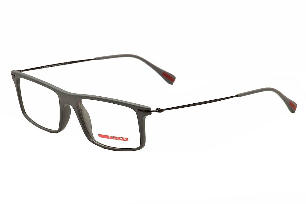 Image of Prada Linea Rossa Men's Eyeglasses Red Feather VPS03E VPS/03E Optical Frame - Grey - Lens 51 Bridge 16 Temple 145mm