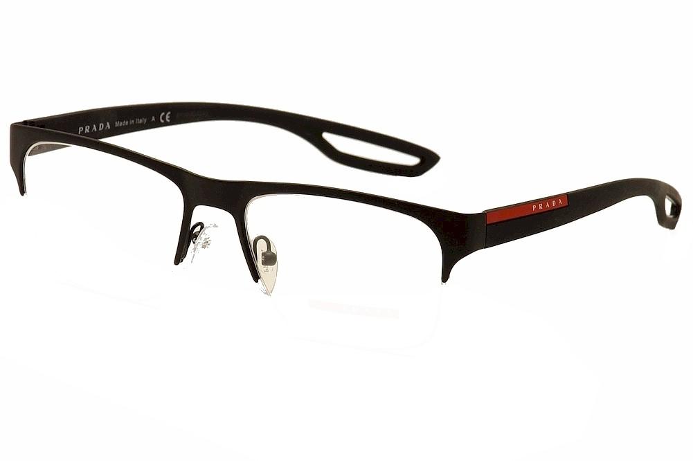 Prada Linea Rossa Men\'s Eyeglasses VPS55F VPS/55F Half Rim Optical Frame