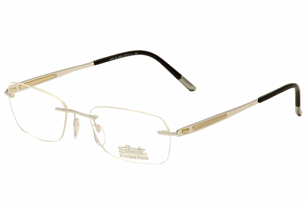 Silhouette Eyeglasses Finesse 4440 6060 Silver/23K Gold Plated ...