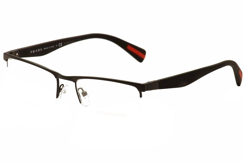 Prada Linea Rossa Men\'s Eyeglasses VPS52F VPS/52F Half Rim Optical Frame