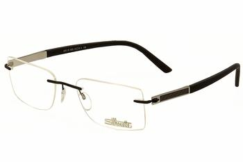 Silhouette Men's Eyeglasses Carbon Intarsia 5403 6053 Black/Grey Optical Frame UPC: