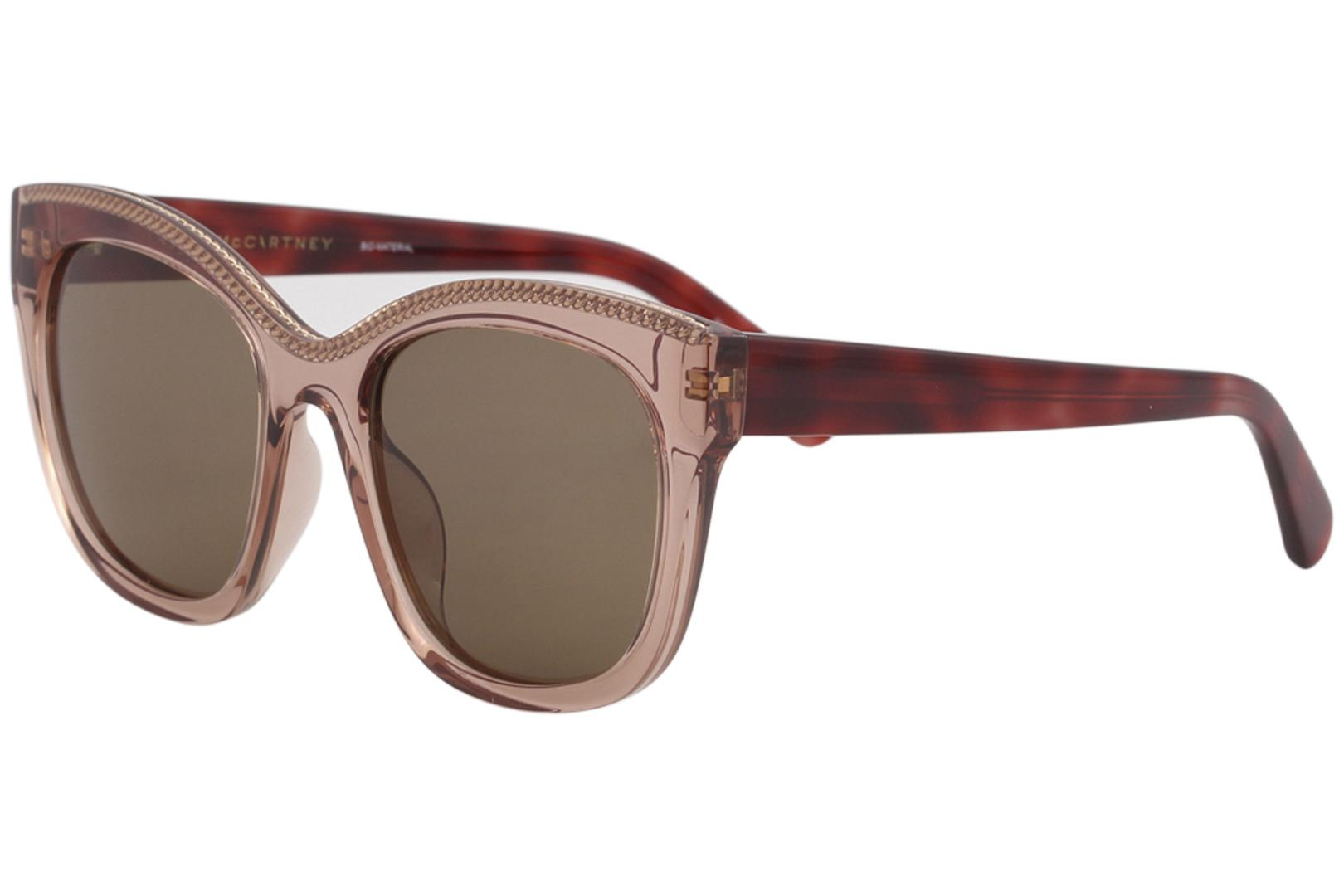 Image of Stella McCartney Falabella SC0130S SC/0130/S 003 Havana Square Sunglasses 54mm - Havana Pink/Brown Gradient   003 - Lens 54 Bridge 20 Temple 145mm