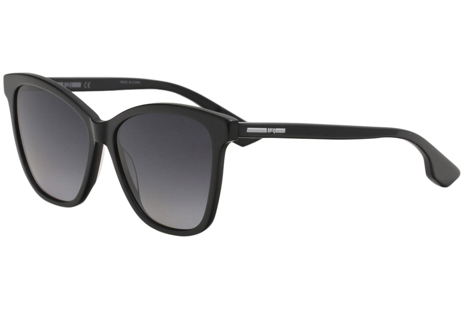 Image of McQ by Alexander McQueen MQ0061S MQ/0061/S 001 Black Butterfly Sunglasses 55mm - Black - Lens 55 Bridge 15 Temple 145mm