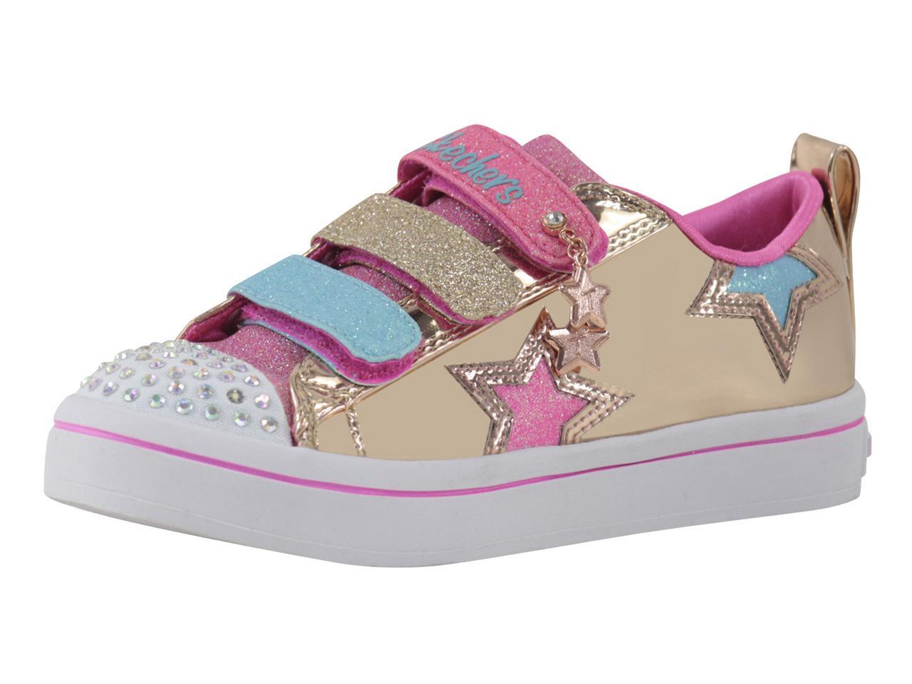 e95ca50ded138 Skechers Little Girl s S-Lights Twi-Lites Twinkle Starz Light Up Sneakers  Shoes by Skechers