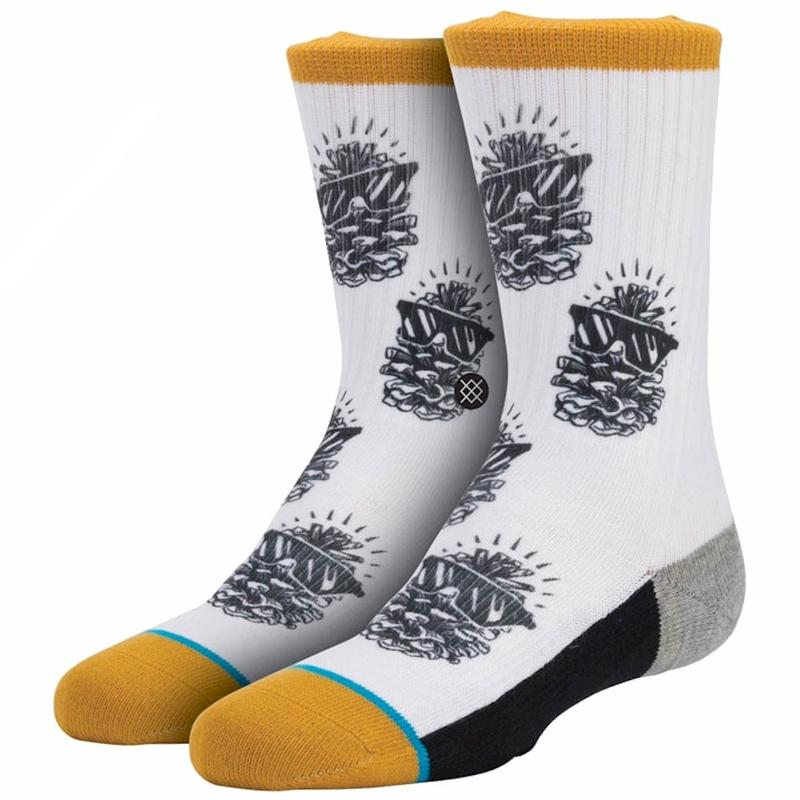 Image of Stance Youth Pinsol White Fashion Crew Socks