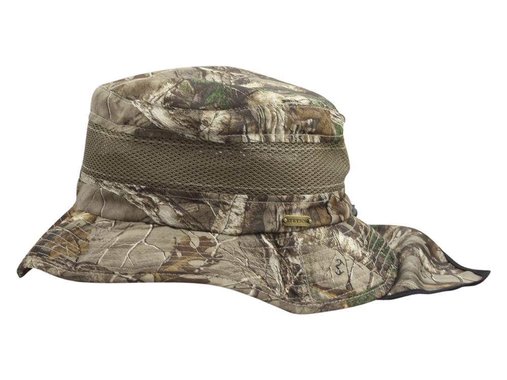 Image of Stetson Men's Realtree Xtra No Fly Zone Insect Repellent Boonie Hat - Green - Large
