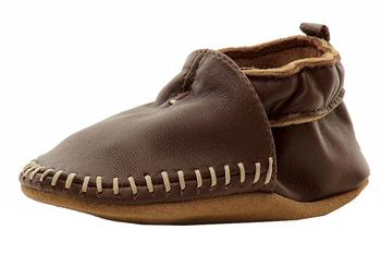 Robeez Mini Shoez Infant Boy's Classic Moccasin Fashion Leather Shoes