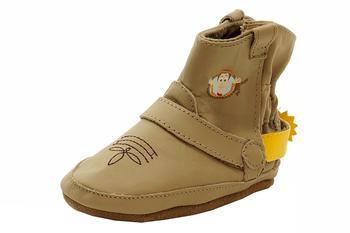 Robeez Disney Mini Shoez Infant Boy's Woody Boot Leather Slip On Bootie Shoes